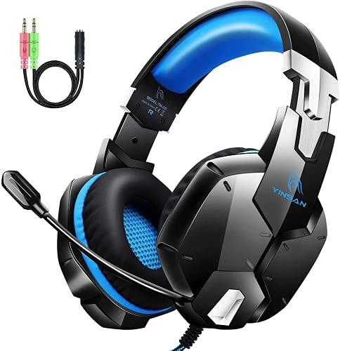 Auriculares Gaming PS4, Cascos Gaming con Micrófono, 3D Sonido y Reducción de Ruido, Jack 3,5mm,...