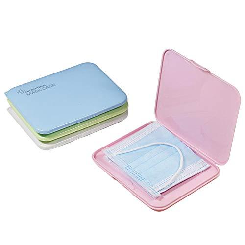 Caja de almacenamiento de máscaras desechables, caja portátil de cara Máscara de algodón...