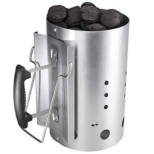 GFTIME Arrancador de Chimenea Carbón briquetas de combustión con Mango de Seguridad para Weber...