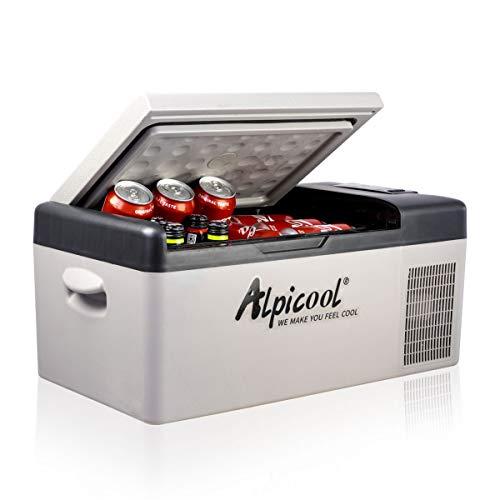 Alpicool C15 15 litros Mini Nevera de Coche portátil Eléctrica 12/24V CC Refrigerador de Coche...
