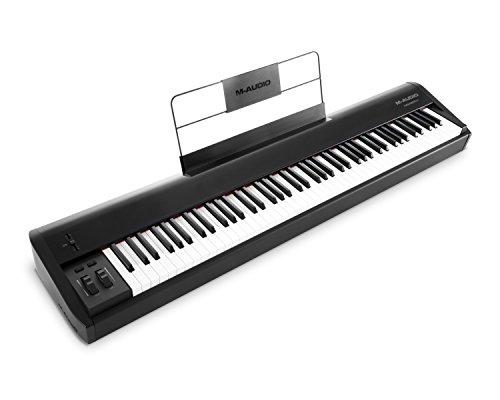 M-Audio Hammer 88 - Teclado controlador USB/MIDI profesional con 88 teclas de acción martillo y...