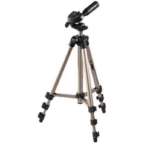 Hama Star 05 - Trípode para cámaras foto/video, 106.5 cm, aluminio, cabeza 3D, color dorado/negro...