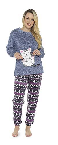 Pijama de Pijamas cómodos Pijamas Snuggle Pijamas cálidos Pijama Twosie Set | Desgaste de Lujo del...