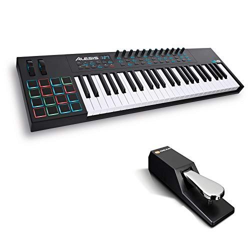 Alesis VI49 + M-Audio SP-2 - Teclado Controlador MIDI USB de 49 Teclas, Pads, Mandos y Botones...