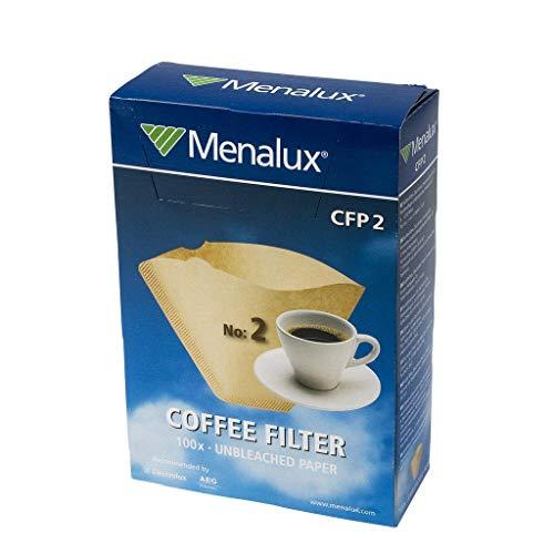 Menalux CFP2 - 100 Filtros de papel 1x2 para cafetera de goteo
