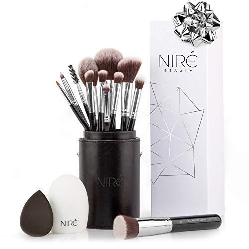 Niré Beauty Set de Brochas de Maquillaje Profesional de 15 Piezas : Brochas y Pinceles de...