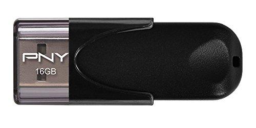 PNY FD16GATT4-EF - Memoria USB 2.0 de 16 GB (25 MB/s), color negro