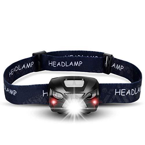 shenkey Linterna Frontal LED USB Recargable Super Bright Headlights 300 Lúmenes, 6 Modos de...