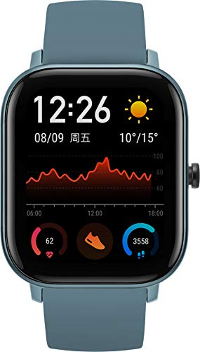 Amazfit GTS Reloj Inteligente Azul AMOLED 4,19 cm (1.65') Móvil GPS (satélite) Amazfit GTS, 4,19...