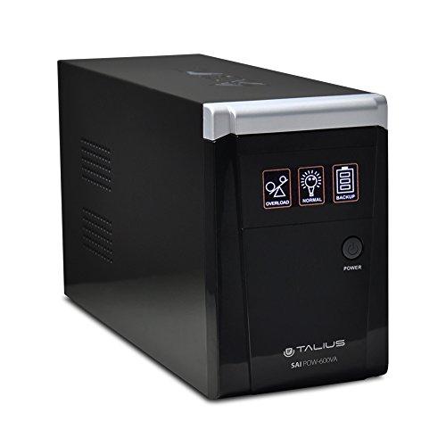 Talius Sistema alimentación ininterrumpida 600-800-1200-1500VA, 2X Schuko, 1x RJ45, 1x RJ11 (600VA)