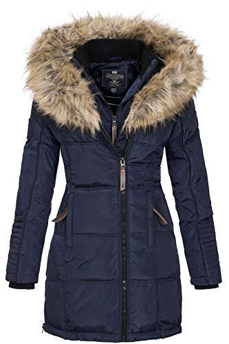 Geographical Norway BEAUTIFUL LADY - Parka cálida mujer - Abrigo grueso capucha de piel falsa -...