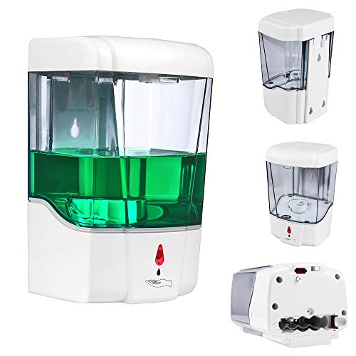 SUNJULY Dispensador Automático de Jabón Pared, 700ml Dispensador Automático de Jabón con Sensor...
