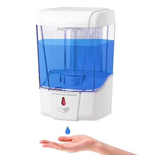Vannico Dispensador de jabón Automático Pared, Dispensador Gel Hidroalcoholico 700ML sin Contacto...