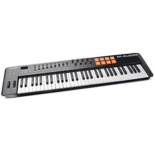 M-Audio Oxygen 61 IV - Teclado Controlador MIDI USB con 61 teclas y Pads Sensibles a la intensidad,...