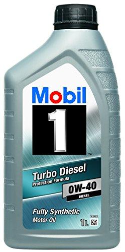 Mobil 1 151040 Turbo Diesel - Aceite sintético de Motor diésel (0W-40, 1 l)