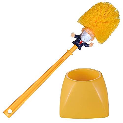 Mobi Lock Cepillo de Inodoro de Donald Trump con máscara Facial - Limpiador de Taza para el hogar,...
