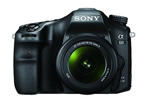 Sony Alpha 68 - Cámara con montura tipo A (sensor CMOS Exmor APS-C de 24.2 MP, lente 18-55 mm,...