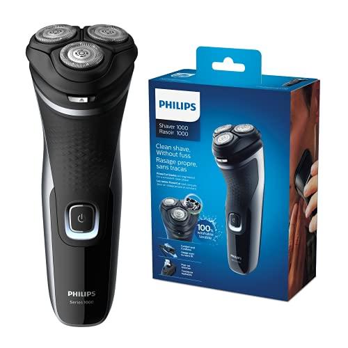 Philips Serie 000 S332/4 - Afeitadora Eléctrica Para Hombre Con Cuchillas Powercut, Cortapatillas...