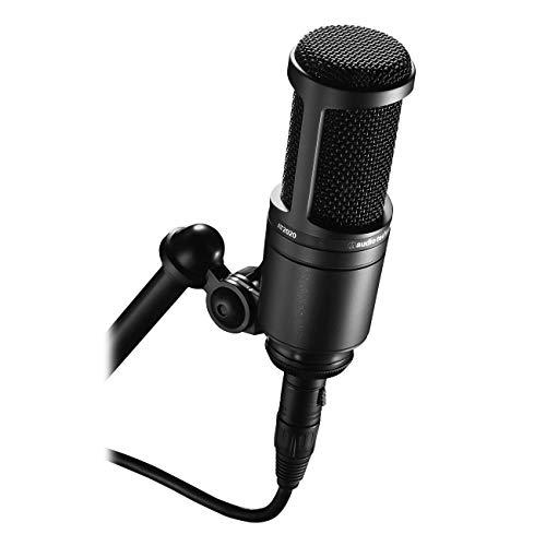 Audio-Technica AT2020 - Micrófono de condensador, Color Negro