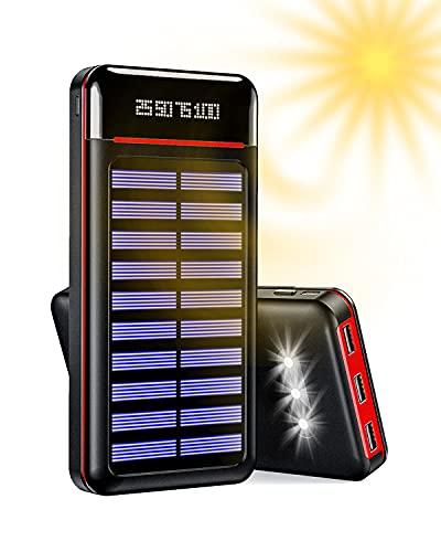 Cargador portátil Power Bank 24000mAh Batería Externa 3 Puertos USB con 2 Puertos de Entrada...