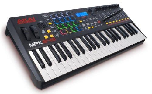 AKAI Professional MPK249 - Teclado controlador MIDI USB de 49 teclas semi-contrapesadas, controles...