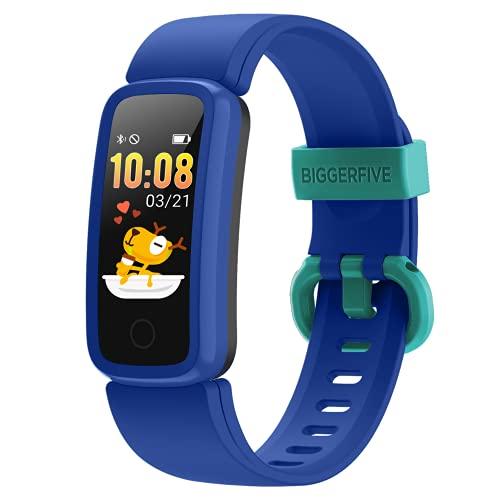 BIGGERFIVE Vigor Pulsera Actividad Inteligente Reloj Inteligente para Niños Niñas, Impermeable...