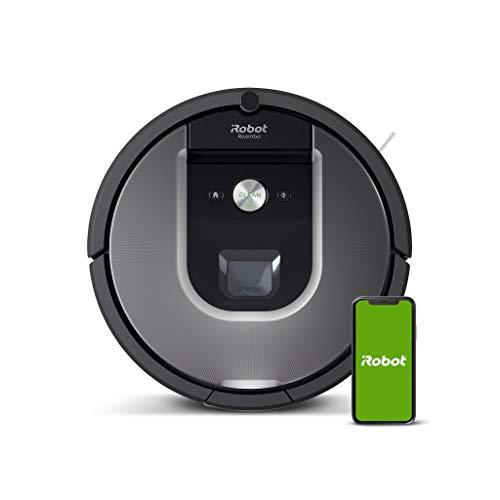 iRobot Roomba 960 Robot Aspirador, Succión 5 Veces Superior, Cepillos de Goma Antienredos, Sensores...