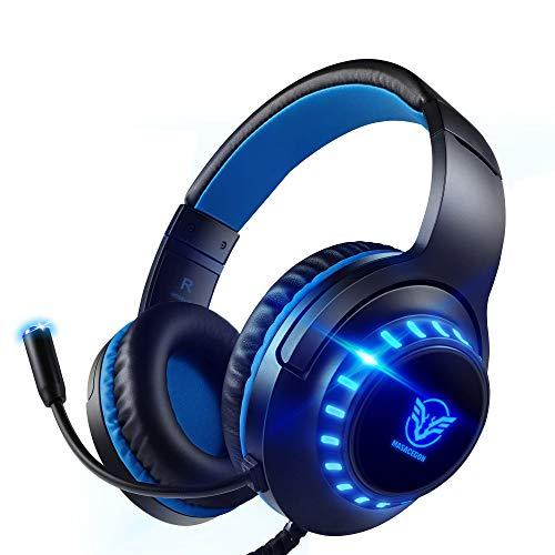 Pacrate Auriculares Gaming PS4, Auriculares con Micrófono PC, Auriculares Gamer con Cable para Xbox...