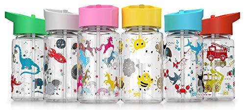 Be-Active Botella de Agua Niños y Niñas – 450ml Sin Fugas - Niños Botellas Agua- Sin BPA -...