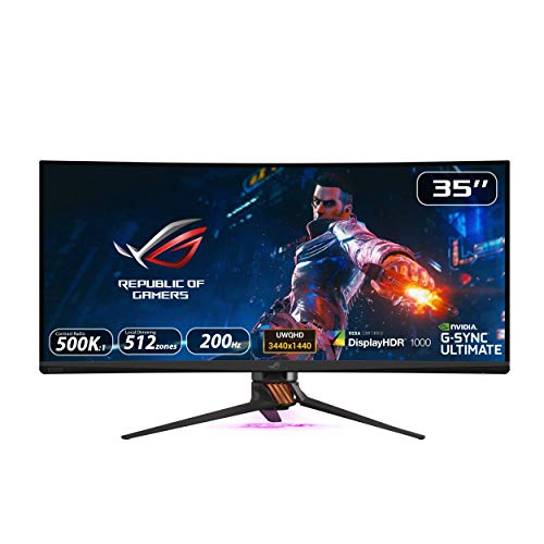 Asus ROG Swift PG35VQ - Monitor curvo Gaming de 35'' WQHD (3440 x 1440, 240 Hz, 4 ms, 16:9, HDR,...