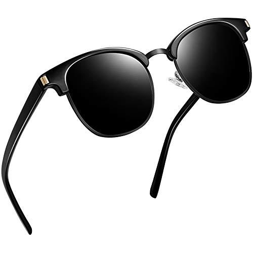 Joopin Gafas de Sol Hombre y Mujer Polarizadas Retro Clásico Medio Marco Gafas de Sol Unisex...