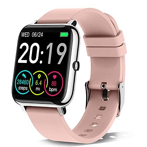 Rinsmola Smartwatch, Reloj Inteligente Mujer de Pantalla Táctil, Pulsera Actividad Inteligente con...