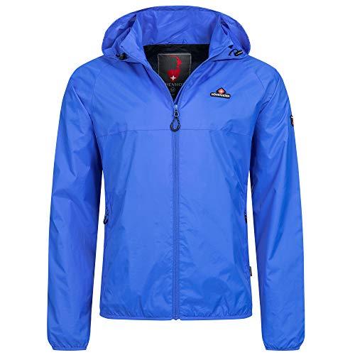 Höhenhorn Rigi Chubasquero con capucha para hombre azul S