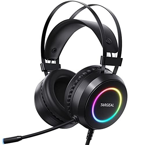 Targeal Auriculares Gaming para PS4 Sonido Envolvente 7.1Driver Audio de 50 mm-Profesional USB...