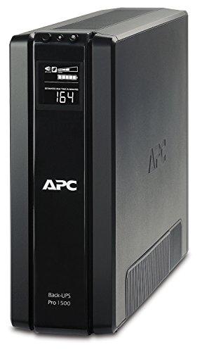 """APC BR1500G-GR Back-UPS PRO - Sistema de alimentación ininterrumpida SAI 1500VA (6 tomas """"Schuko"""",..."""