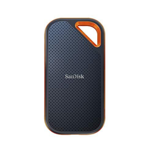 SanDisk Extreme PRO SSD portátil de 2TB - NVMe, USB-C, cifrado por hardware, hasta 2000MB/s,...
