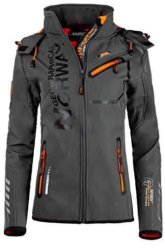 Geographical Norway - Chaqueta softshell para mujer gris oscuro S