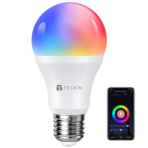 TECKIN Bombilla Inteligente Alexa Led Wifi con luz cálida 2800k-6200k + Rgb lámpara color...