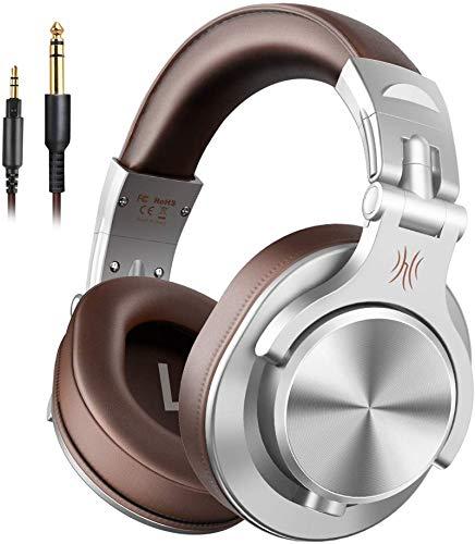 Auriculares OneOdio sobre la oreja, auriculares DJ con cable, auriculares HiFi de estudio con puerto...