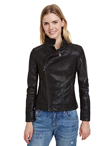 Desigual Coat Dante Abrigo, negro (negro 2000), 40 para Mujer