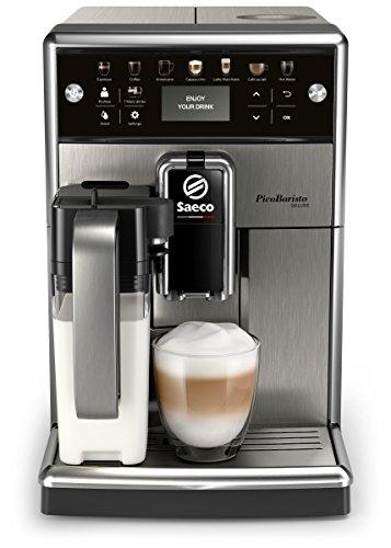 Saeco PicoBaristo Deluxe SM5573/10 - Máquina espresso automática de acero inoxidable con jarra de...