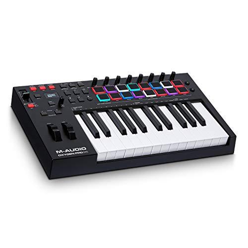 M-Audio Oxygen Pro 25 - Teclado controlador MIDI USB de 25 teclas con pads de ritmos, perillas y...