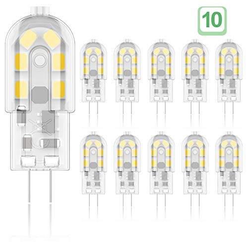 Phoenix-LED G4 Bombilla,2W Equivalente a 20W Halógena, Blanco Cálido 3000K, 200LM,AC/DC 12V,Pack...
