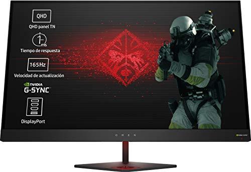 HP OMEN 27 - Monitor gaming de 27 pulgadas G-sync + altura ajustable (QHD, 1ms, 165 Hz, Nvidia...