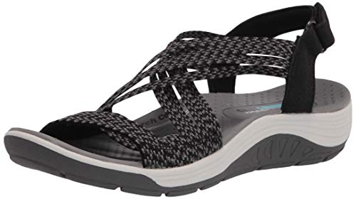 Skechers - sandalia sin cordones para mujer modelo Reggae Cup - Oh, Negro (Negro), 35 EU