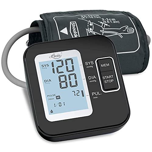 Tensiómetro de Brazo Digital - Tensiometro de Brazo Automatico LCD, Brazalete Grande de 22-42 cm,...