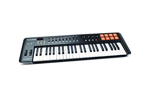M-Audio Oxygen 49 IV - Teclado controlador MIDI USB con 49 teclas y pads sensibles a la intensidad,...