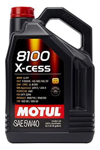 MOTUL 7250 Aceite DE Motor 8100 X-Cess 5W40 5 litros, No Aplica, 5 Liters (169.07 Ounces)