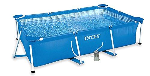 Intex Piscina Rectangular Bomba Fil 1000L,