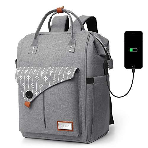 Mochila Mujer Antirrobo Impermeable, Multiusos Daypacks con Puerto de Carga USB, Mochila para...